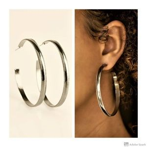 Beverly Hills Hoop - Gunmetal Large Hoop Earrings